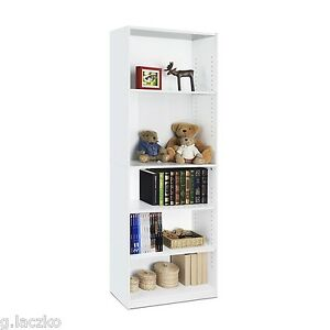 Image Is Loading Open Bookcase 5 Shelf Storage Shelves Bookshelf Furniture