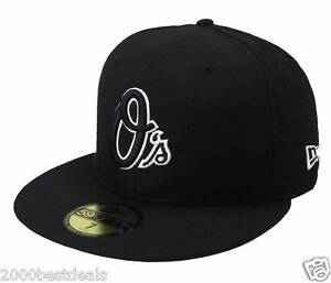e940d438be017 New Era 59Fifty Baseball Cap Baltimore Orioles Black Fitted Hat 5950 ...