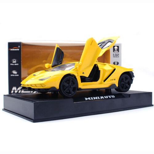 Lamborghini Centenario LP770-4 1//32 Die Cast Modellauto Spielzeug Kinder Gelb