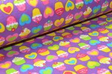 ❋ 100% Fleece Wellness Stoff Kuschelig 150 cm breit Meter Ware Muffins Kinder ❋