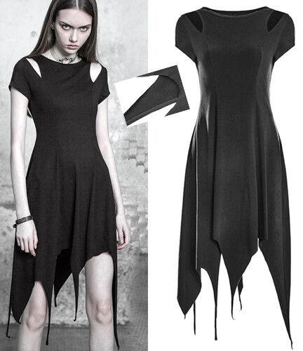 Robe asymétrique évasé gothique punk lolita épaule nu burlesque fashion Punkrave