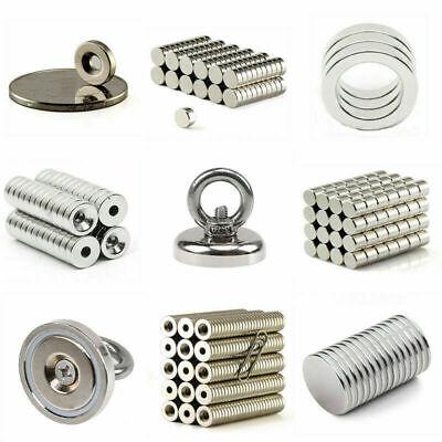 1-500Pcs Strong Powerful N35//N50//N52 Magnet Rare Earth NdFeB Magnetic Hook Tool