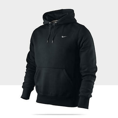 Nike Classic Men's Fleece Hoodie pullover OTH Over the Head BLACK 010
