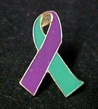 Teal Purple Sex Assault Domestic Violence Awareness Ribbon Lapel Pin Tac New