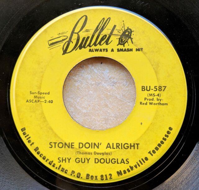 BLUES HARMONICA 45: SHY GUY DOUGLAS Stone Doin' Alright BULLET