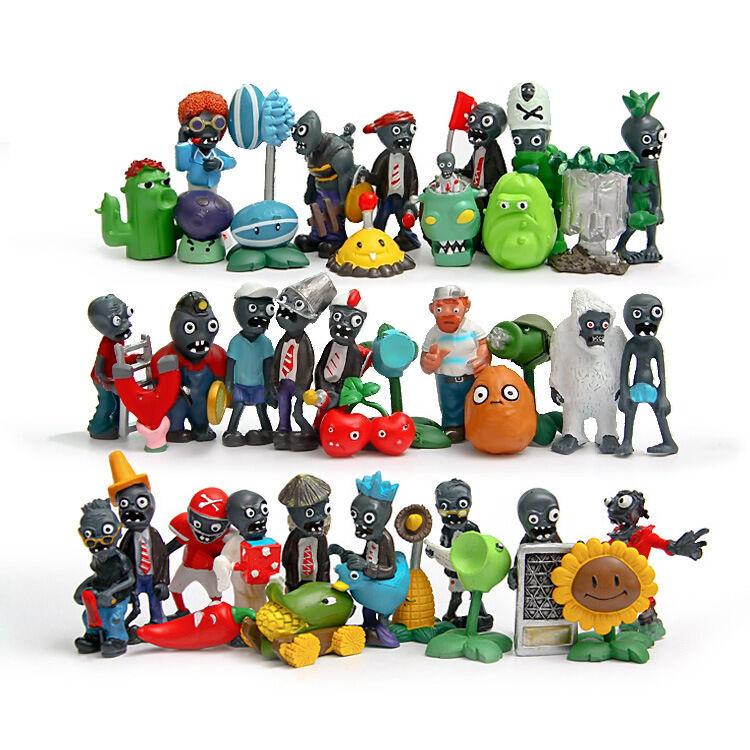 40ps set New Plants vs. Zombies Toys Anime Action figures pvz PVC Kids Gift