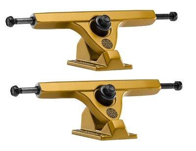 "Caliber Longboard Trucks 50° 10/"" Gold Cal 7 83mm Wheels Skateboard Combo"
