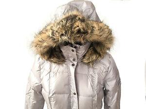 designer fashion 5d9c2 1a603 Details zu NEU Damenmode Jacke Gr 38 Daunenjacke Mantel v. JC silber weiss  grau Fell Kapuze