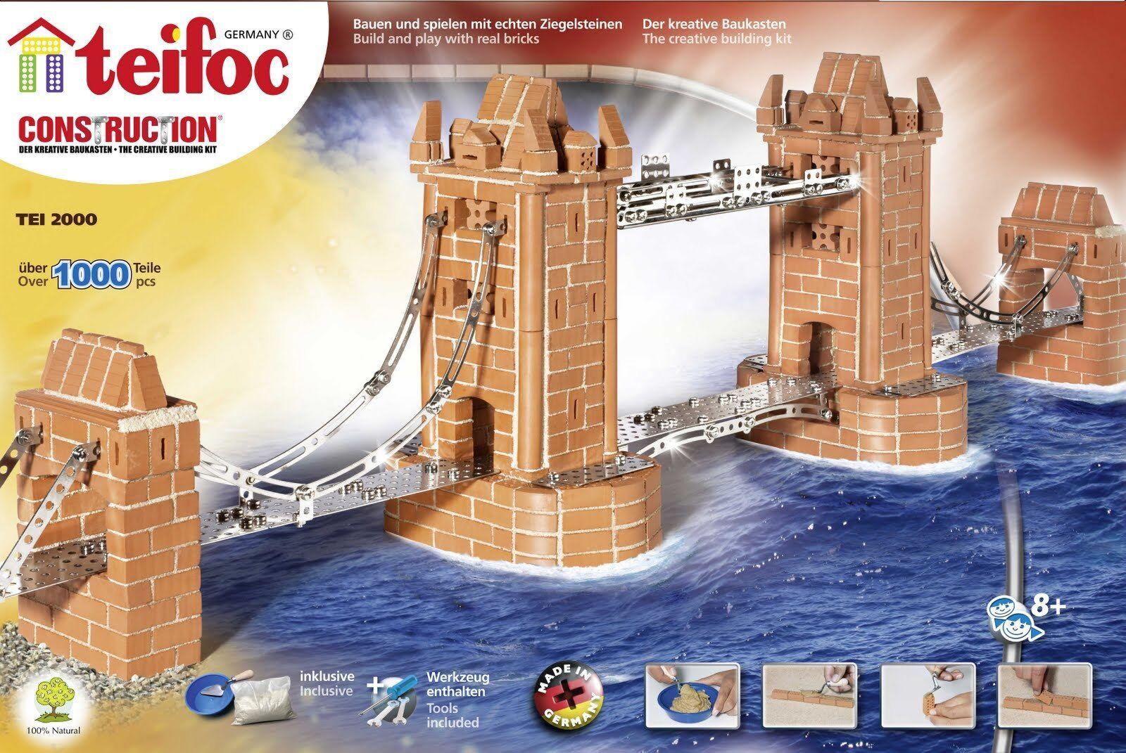 London Tower Bridge Teifoc TEI200 construcción de edificios ladrillo Mason Eitech Modelo