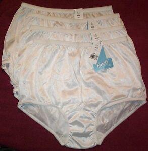 4 Pair White Size 6 100/% Cotton  BIKINI PANTIES USA Made