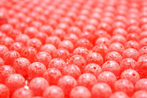 UV PEARLED SCRAMBLED BLOOD RED TRICK EM BEADS TROUT STEELHEAD 6 8 10 or 12 mm