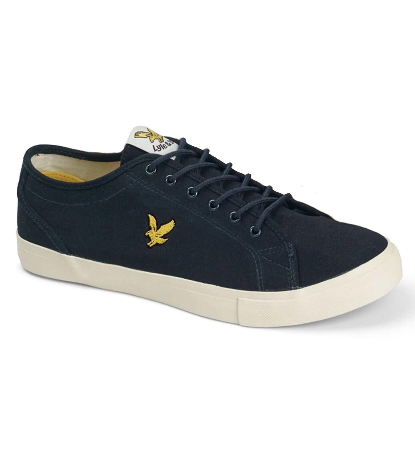 Lyle & scott Eagle Leinen Teviot Twill Mode Plimsolls Turnschuhe Marineblau