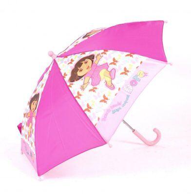 Dora The Explorer Farfalle Bambini Ombrello Rosa Fucsia Rosa-nuova Con Etichetta-mostra Il Titolo Originale Supplemento L'Energia Vitale E Il Nutrimento Yin