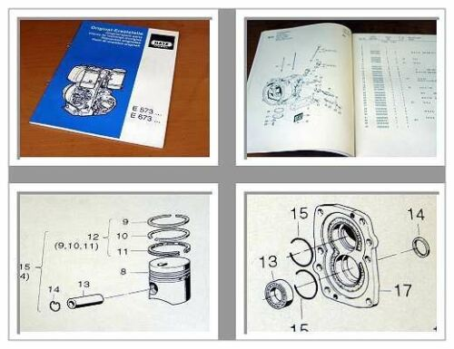Hatz e573 e673 motor diesel repuestos lista 1995