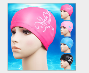 Swimming Cap Protect Ears Long Hair Sports Pu Hat For Men ...