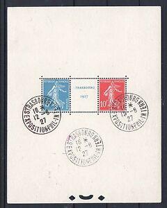 FRANCE-BLOC-FEUILLET-2-034-STRASBOURG-1927-034-OBLITERE-CACHET-EXPOSITION-TB-P119
