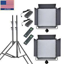 US GODOX 2x LED1000W White Version 5600k LED Video Studio Lighting + Light Stand