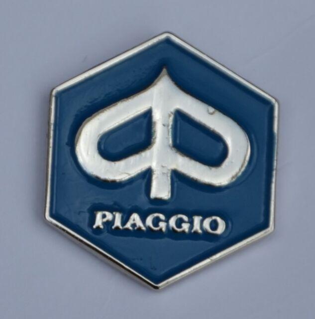 Blue Piaggio Hexagon Quality Enamel Pin Badge