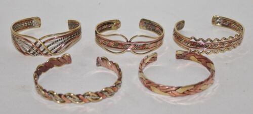 new /& unworn Vintage hand crafted ethnic copper and brass cuff bracelet