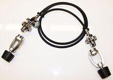 Scuba Transfill Hose Set Cylinder Equalizer DIN or Yoke Pony Gauge PSI/Bar Flex