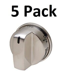 Stainless-Knob-for-LG-EBZ37189611-GE-WB03K10286-Stove-Range-No-SuperBroil-5-Pack