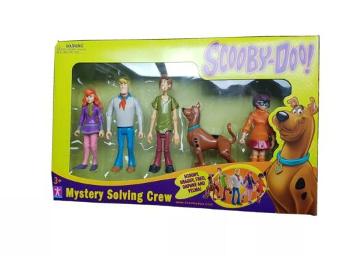 Scooby-Doo Mystery Solving Crew//Gang 5 Figures Shaggy Velma Fred Daphne NEW