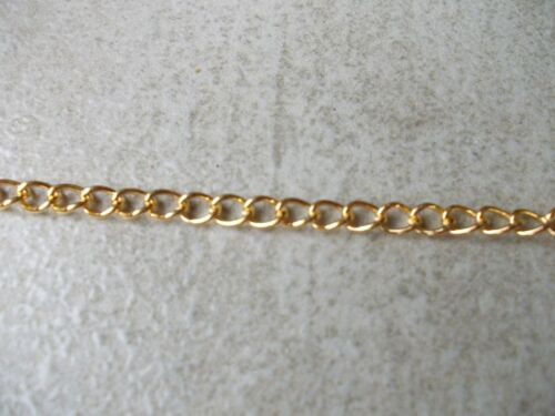 LINK 5 X 3.5MM SILVER,GOLD,COPPER,BRONZE,CHOSE LENGTH TWIST JEWELLERY CHAIN