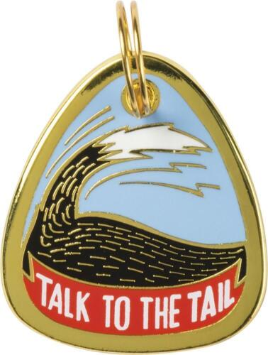 """Dog Collar Charm  /"""" TALK TO THE TAIL /"""" Dogs Pets Collar Tag  ID Charms Gift"""