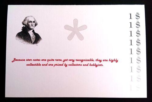 2003 Star Note Uncirculated in a fancy folder ONE US DOLLAR