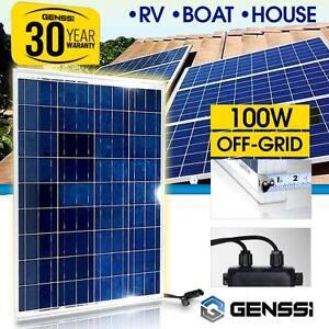 100w solar panel 12v dc works boat marine rv off grid. Black Bedroom Furniture Sets. Home Design Ideas