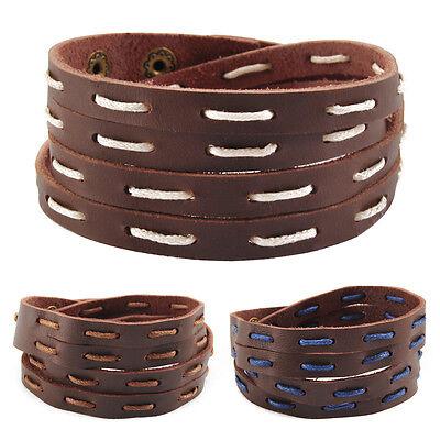 FleißIg Echt Leder Wickelarmband-lma12a-armband!leather Bracelet Herren Surferarmband Angenehm Im Nachgeschmack