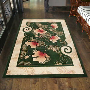Teppich Wohnzimmer Klassisch Blumen Grün DESIGN Läufer XXL 200x300 ...