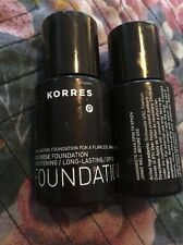 KORRES WILD ROSE MINERAL FOUNDATION WRF8 LOT OF 2