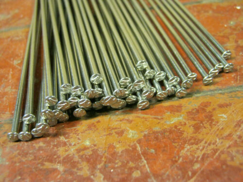 *STRAIGHT-PULL**Custom Cut Length* USA Made WHEELSMITH Silver Spokes 2.0mm 14g
