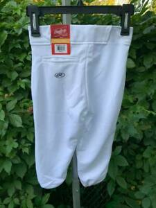 NWT-Rawlings-YBP350MR-W-88-Relaxed-Fit-Youth-Baseball-Pants-Small-White-G15