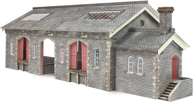 Settle/Carlisle Goods Shed - N gauge Building Card Kit - Metcalfe PN936