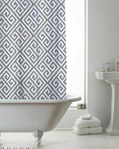 Country Club Shower Curtain 180x180 Skandi Grey Geometric Bathroom Modern For Sale Online