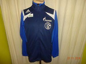 FC-Schalke-04-Adidas-Spieler-Freizeit-Trainingsanzug-Jacke-034-GAZPROM-034-Gr-S-M