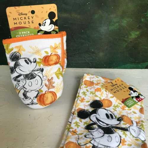 NEW SEASONAL Fall DISNEY Mickey Mouse Kitchen Mitts Towels Variety