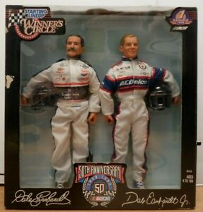 Dale-Earnhardt-Autographed-Starting-Lineup-Winners-Circle-Figure-2-Pack-w-COA