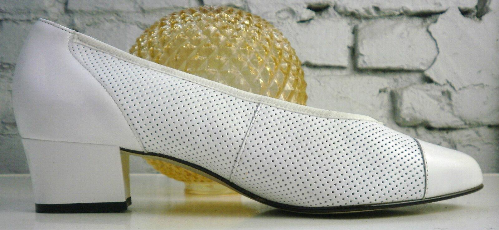 Rhin Berger Chaussures Femmes Escarpins 80er true vintage blanc blanc nos foodbed uk 4,5 G