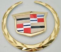 Cadillac Xlr-v 2009 Wreath & Crest Grille Emblem 24 K Gold Plated