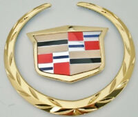Cadillac Xlr-v 2006 2007 2008 Wreath & Crest Grille Emblem 24 K Gold Plated