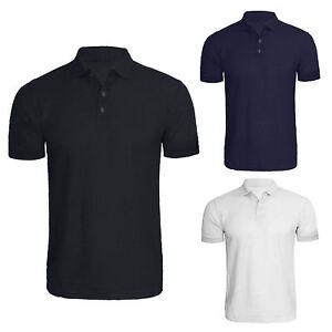 Men-039-s-Plain-Polo-Shirt-Short-Sleeve-Summer-Polo-T-Shirt-M-5XL