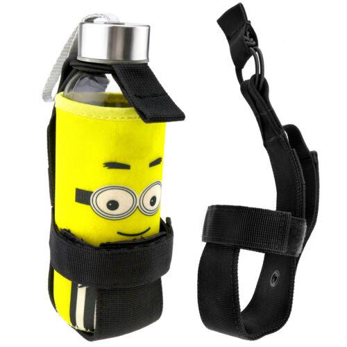Outdoor Black Tactical Hiking Portable Water Bottle Holder Belt Carrier Pouch