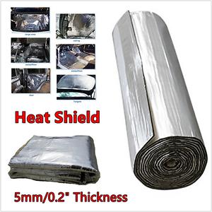 Image is loading 2-5x1M-5mm-Car-Hood-Door-Heat-Sound-  sc 1 st  eBay & 2.5x1M 5mm Car Hood Door Heat Sound Deadener Reducer Insulation ...