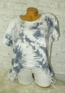 Italy-T-Shirt-Vintage-Gr-36-38-40-42-Shirt-Oversized-Long-Puder-weiss-blogger