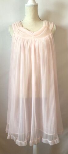 Vintage Evette Lingerie Nightgown Lined Chiffon Ac
