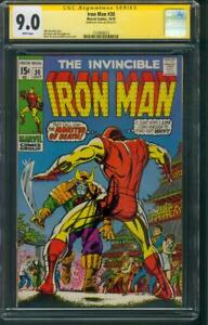 Iron-Man-30-CGC-SS-9-0-Stan-Lee-Sign-Monster-of-Death-Bill-Everett-1970-cover