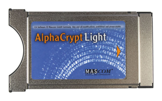 Mascom Alphacrypt Light CI CI+ Modul R2.2 One4All 2.50 HD03 HD04 G02 G09 etc.